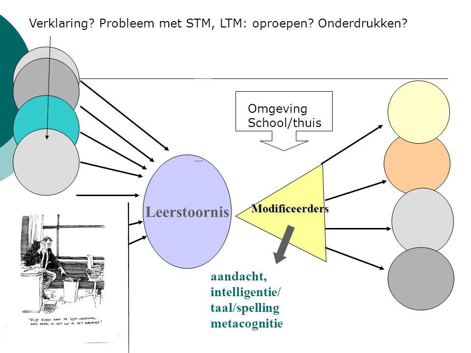 Leerstoornis aandacht, intelligentie/ taal/spelling metacognitie