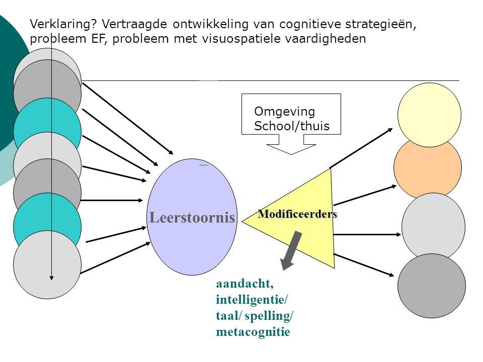 Leerstoornis aandacht, intelligentie/ taal/ spelling/ metacognitie