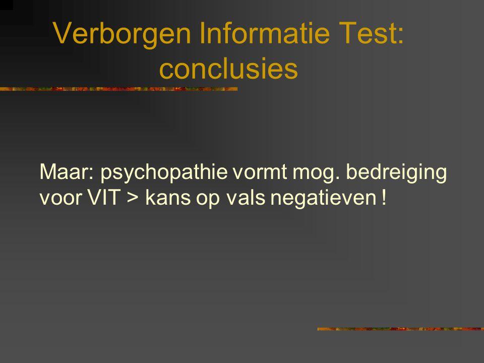 Verborgen Informatie Test: conclusies