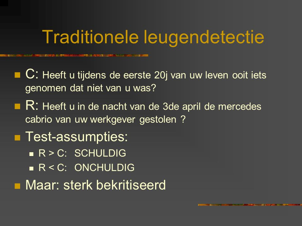 Traditionele leugendetectie