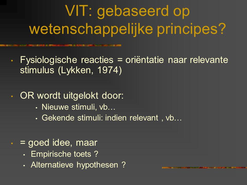 VIT: gebaseerd op wetenschappelijke principes
