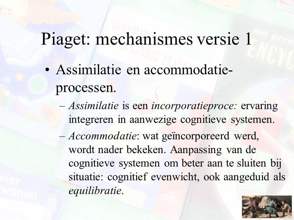 Piaget: mechanismes versie 1