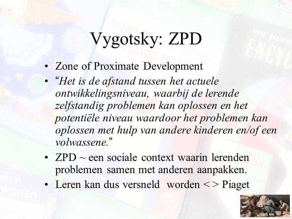 Vygotsky: ZPD Zone of Proximate Development