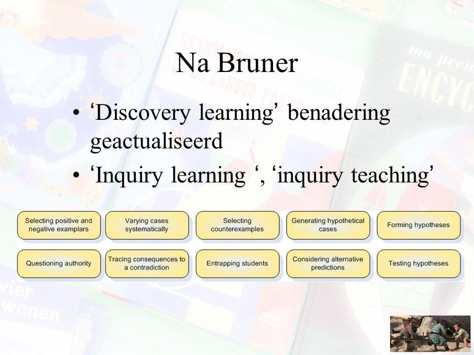 Na Bruner 'Discovery learning' benadering geactualiseerd