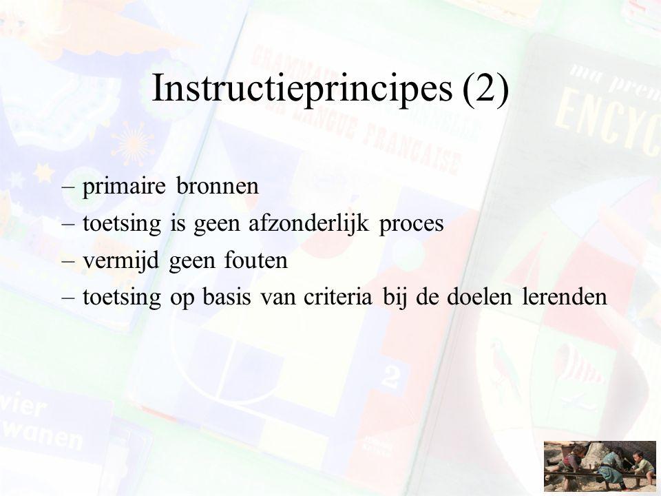 Instructieprincipes (2)