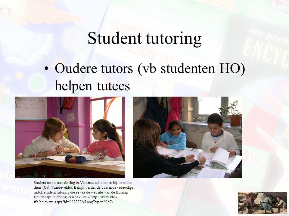 Student tutoring Oudere tutors (vb studenten HO) helpen tutees