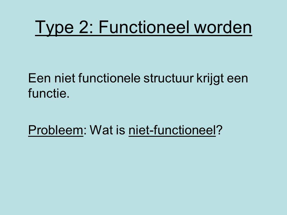 Type 2: Functioneel worden