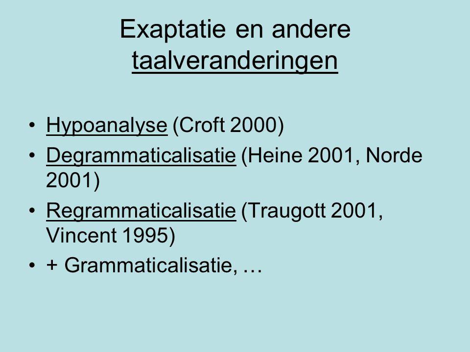 Exaptatie en andere taalveranderingen