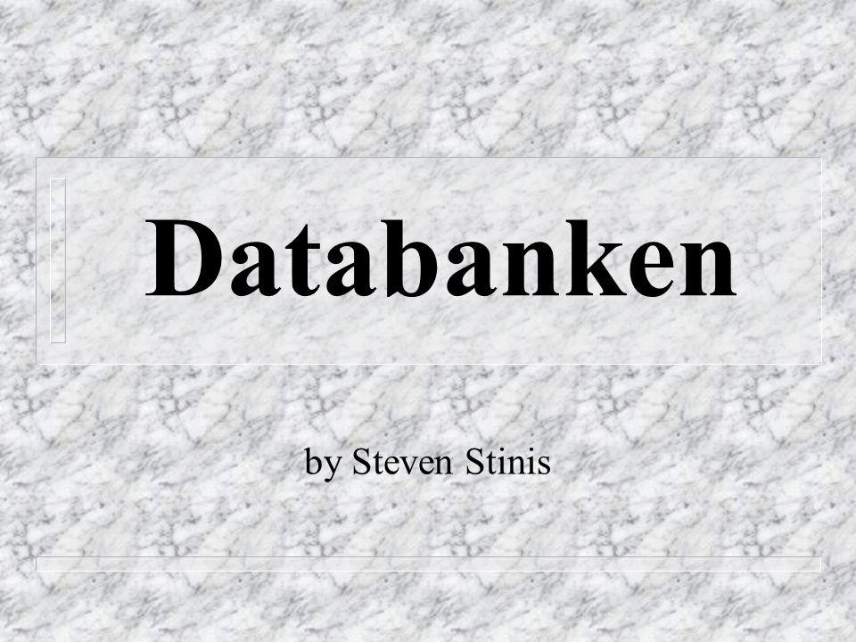 Databanken by Steven Stinis