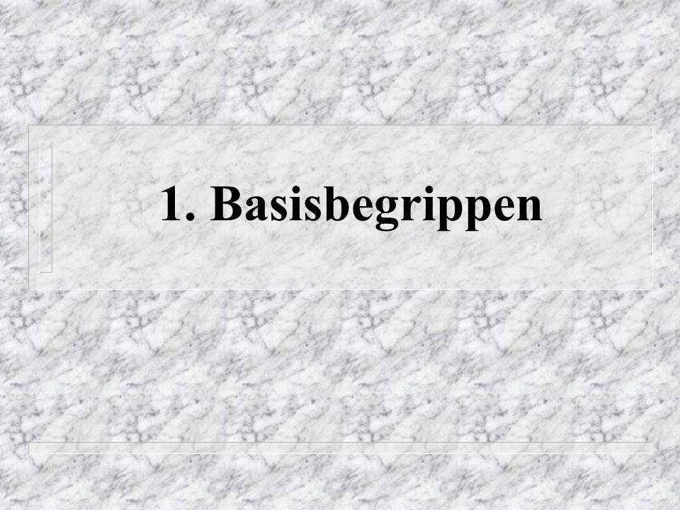 1. Basisbegrippen