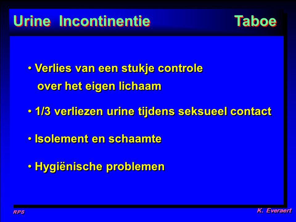 Urine Incontinentie Taboe
