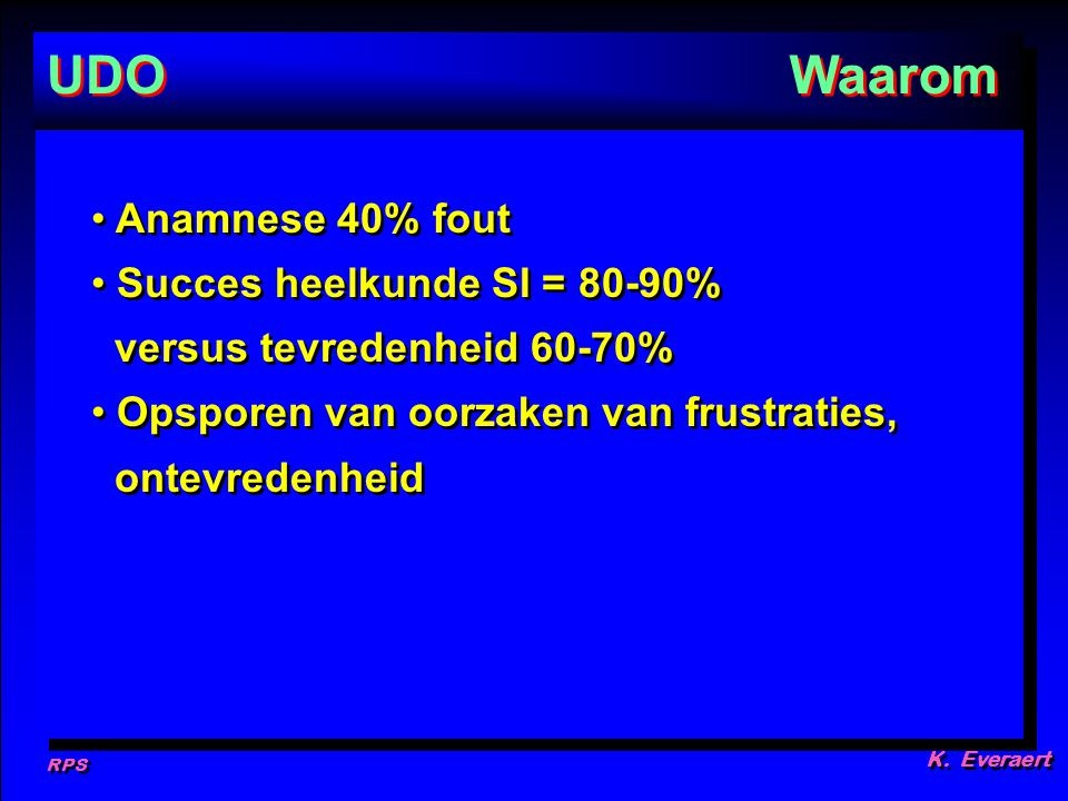 UDO Waarom Anamnese 40% fout