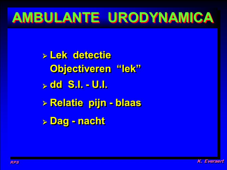 AMBULANTE URODYNAMICA