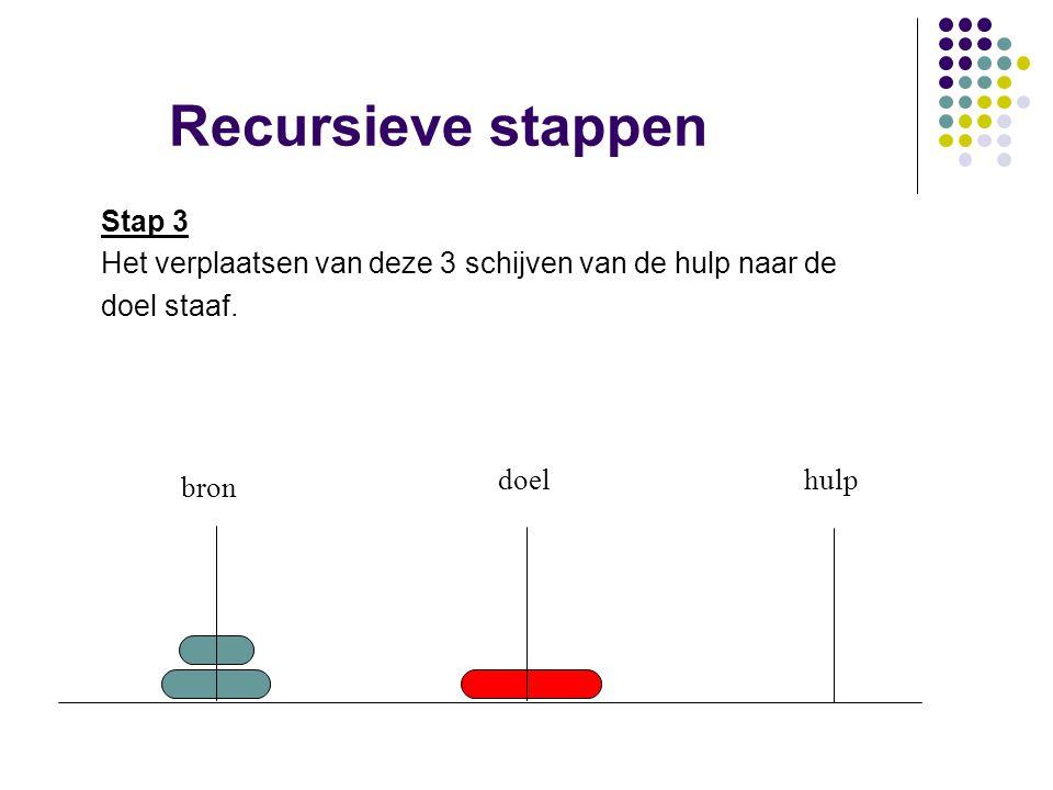 Recursieve stappen Stap 3