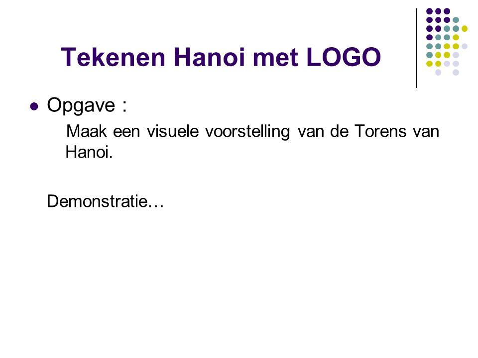 Tekenen Hanoi met LOGO Opgave :