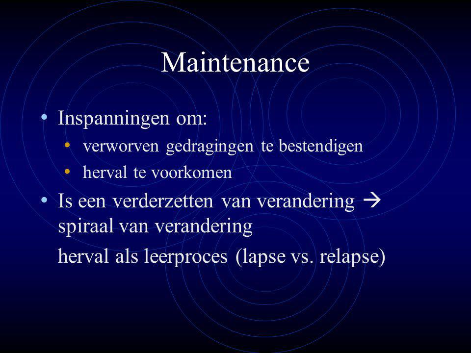 Maintenance Inspanningen om: