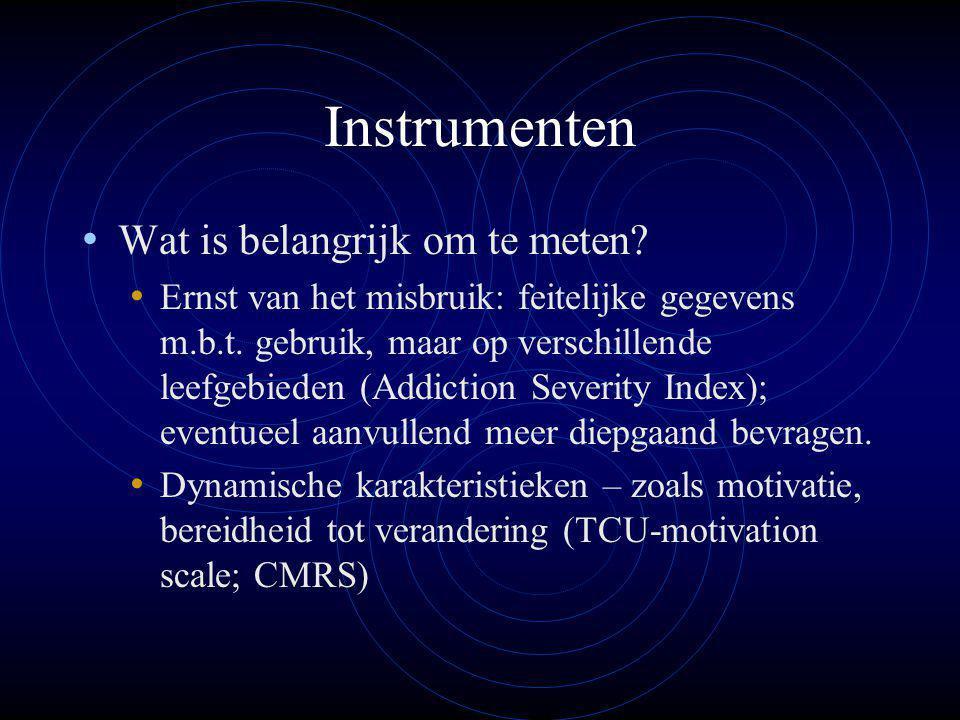 Instrumenten Wat is belangrijk om te meten