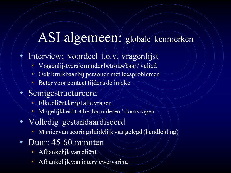 ASI algemeen: globale kenmerken