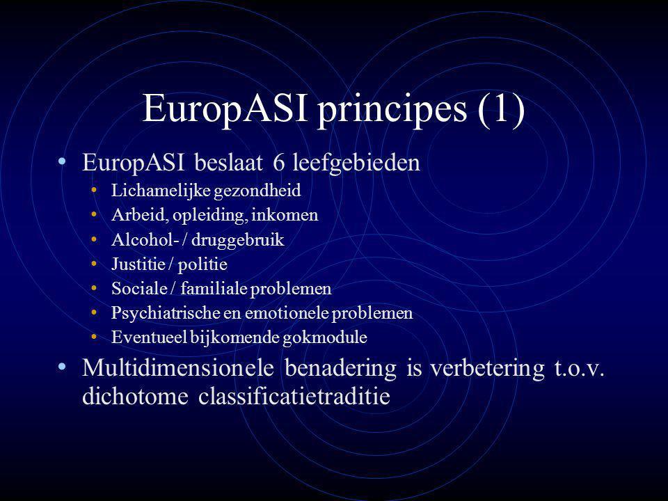 EuropASI principes (1) EuropASI beslaat 6 leefgebieden