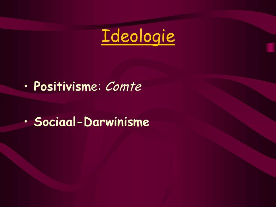 Ideologie Positivisme: Comte Sociaal-Darwinisme