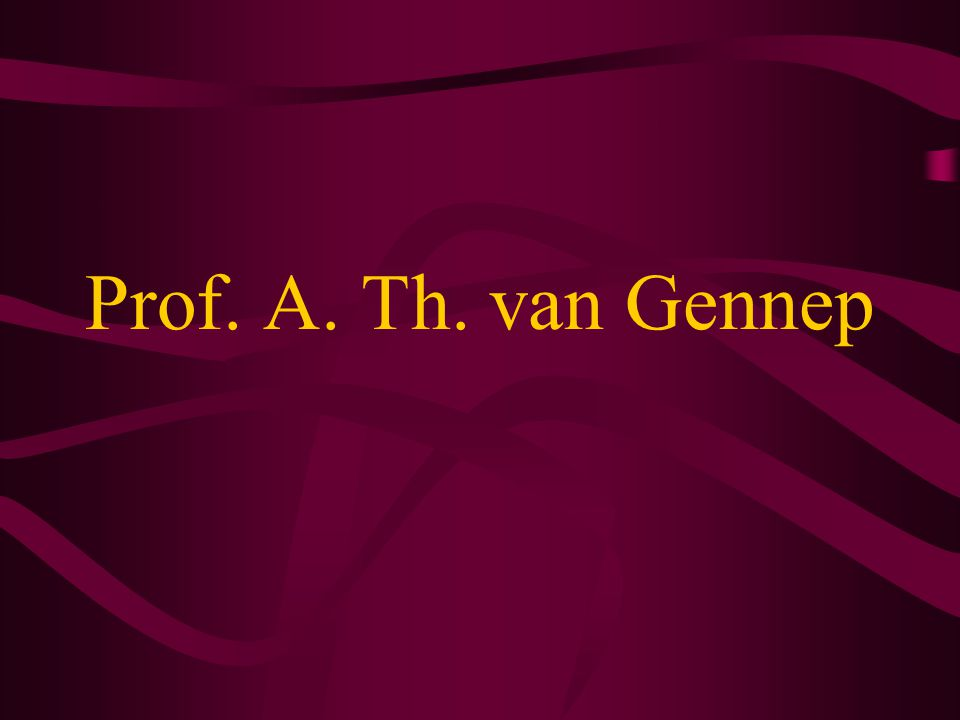 Prof. A. Th. van Gennep