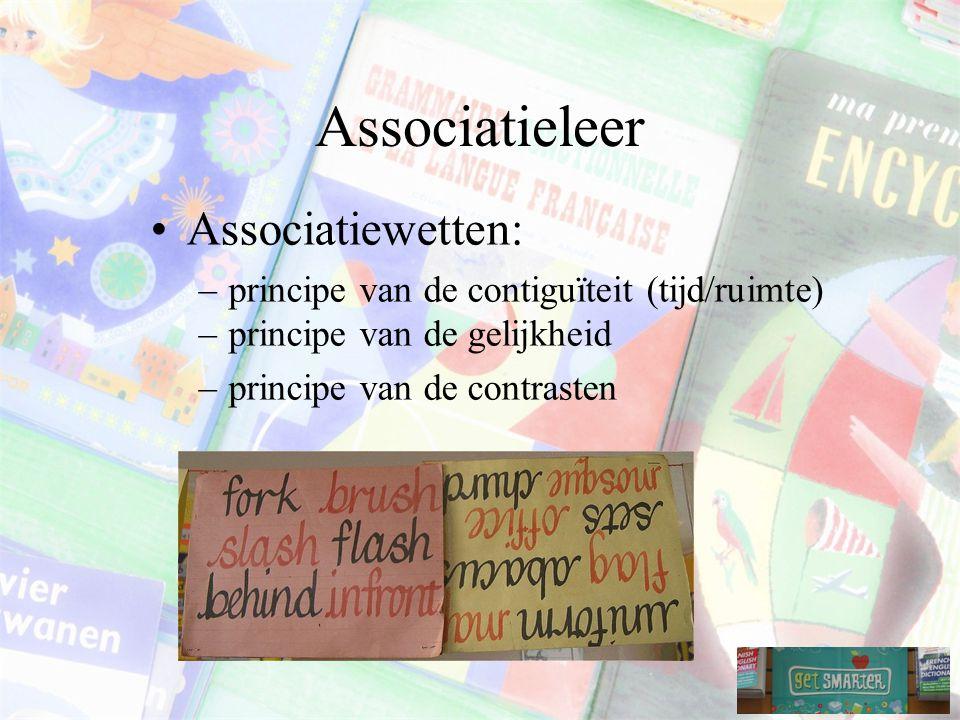 Associatieleer Associatiewetten: