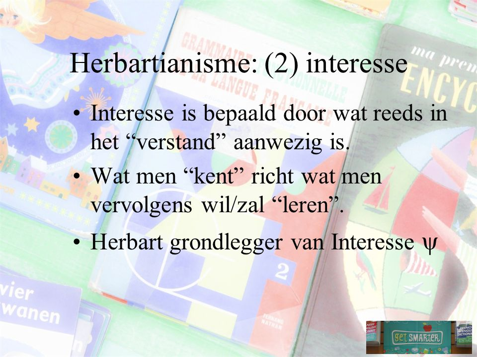Herbartianisme: (2) interesse