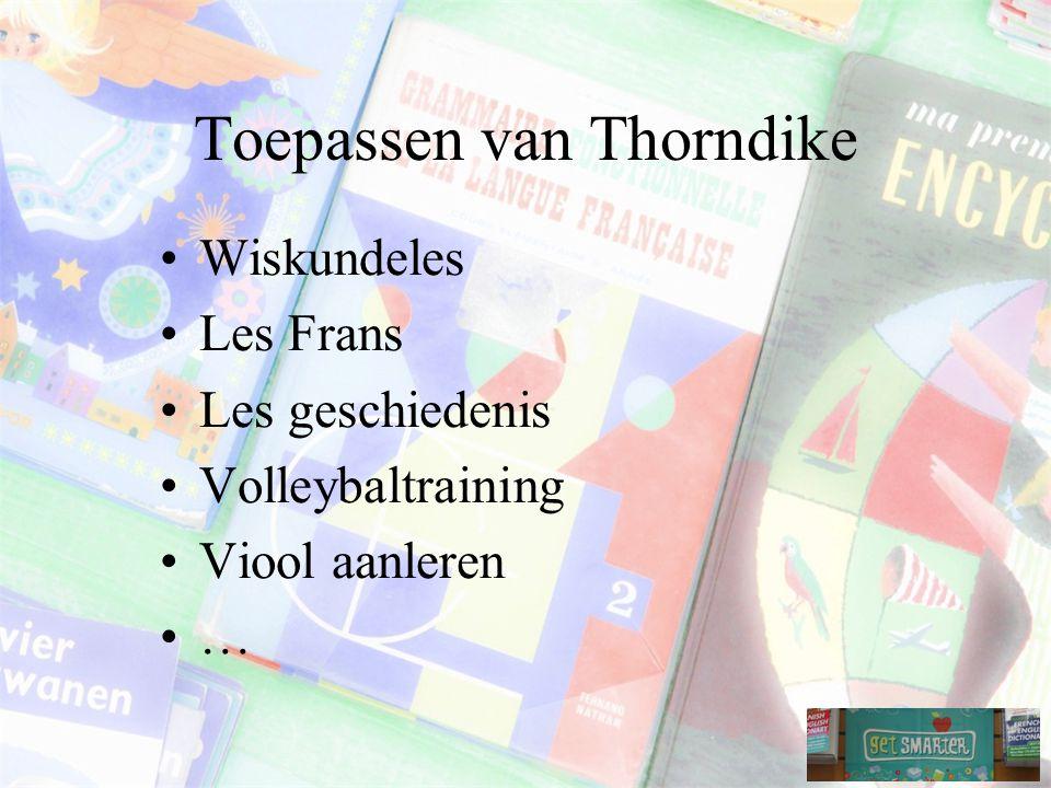 Toepassen van Thorndike