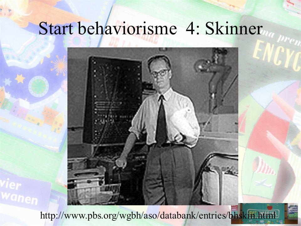 Start behaviorisme 4: Skinner