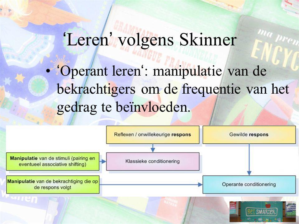 'Leren' volgens Skinner