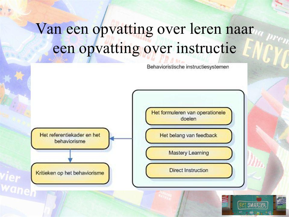 Van een opvatting over leren naar een opvatting over instructie