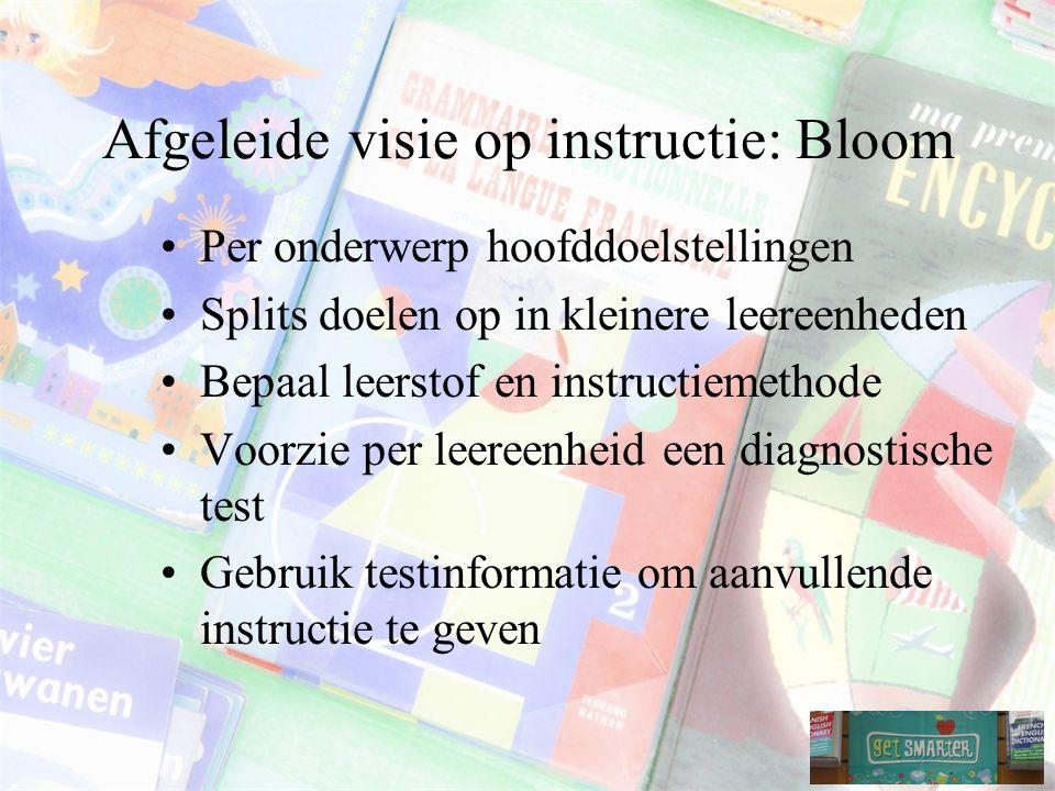 Afgeleide visie op instructie: Bloom