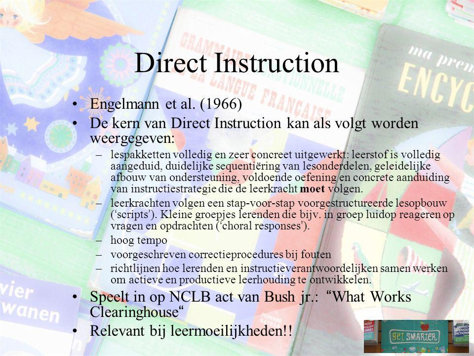 Direct Instruction Engelmann et al. (1966)