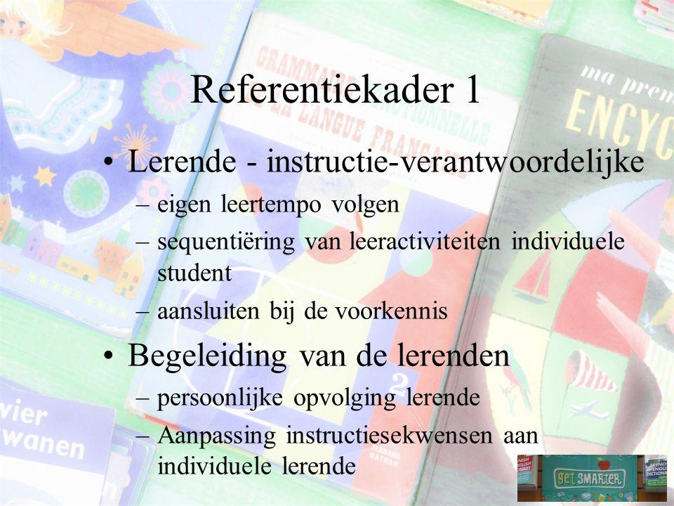 Referentiekader 1 Lerende - instructie-verantwoordelijke