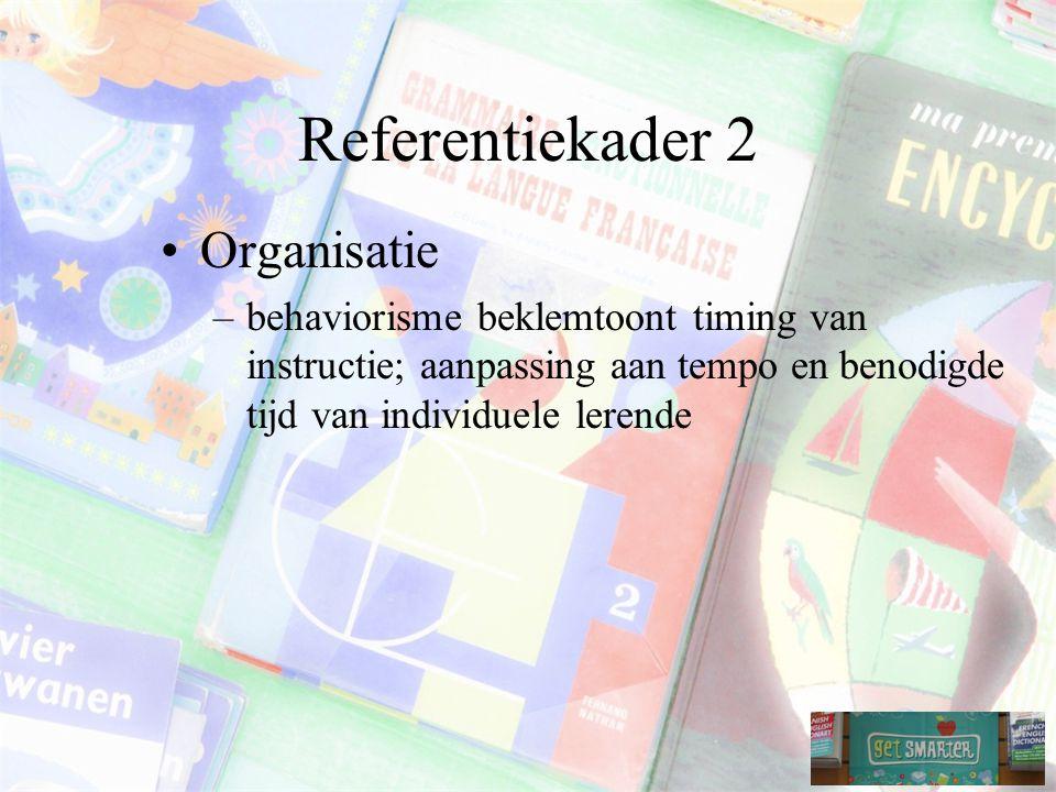Referentiekader 2 Organisatie