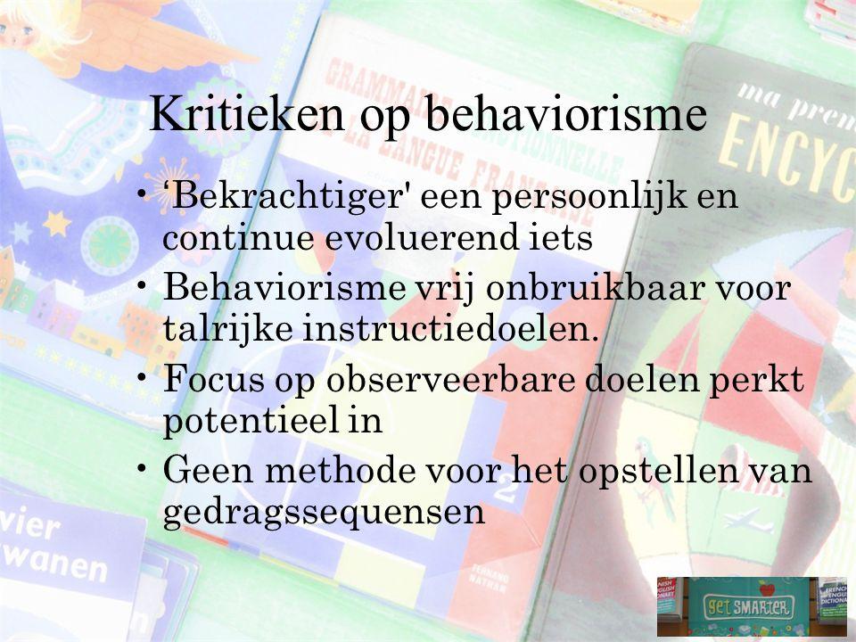 Kritieken op behaviorisme