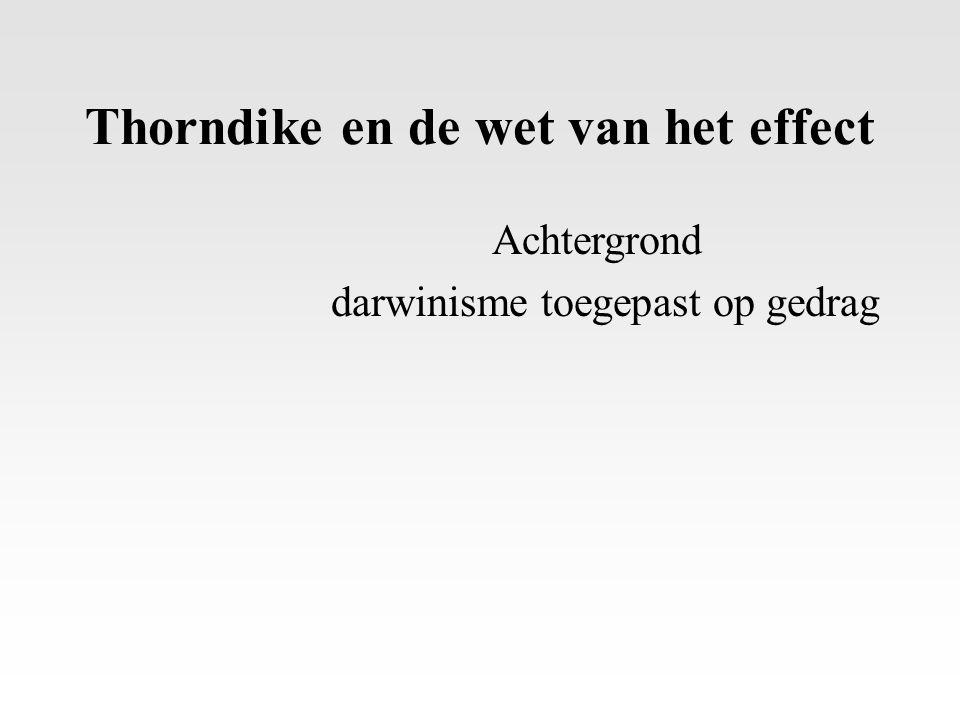 Thorndike en de wet van het effect