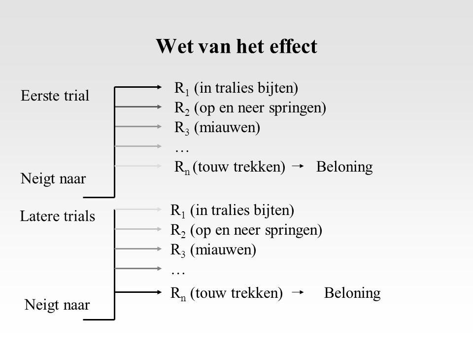 Wet van het effect R1 (in tralies bijten) Eerste trial