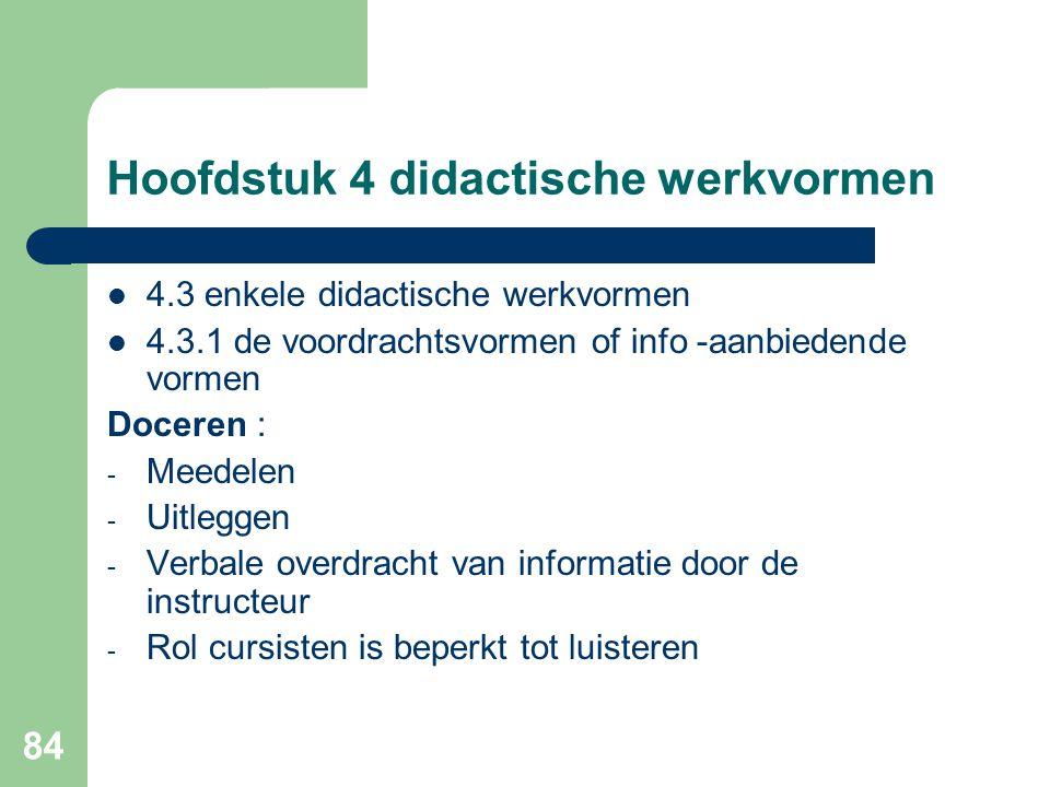 Hoofdstuk 4 didactische werkvormen