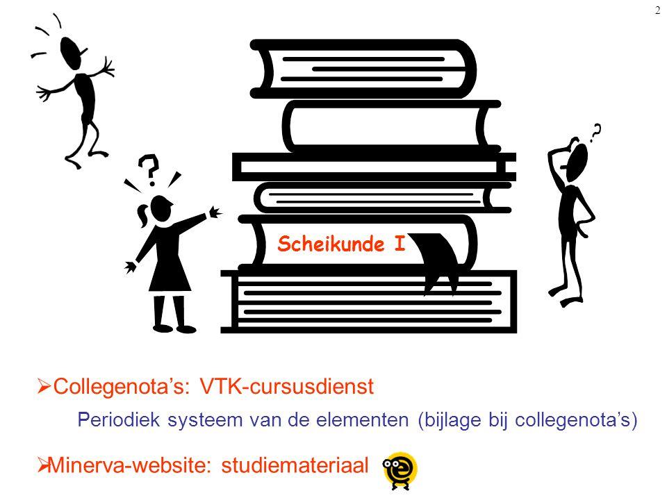Collegenota's: VTK-cursusdienst