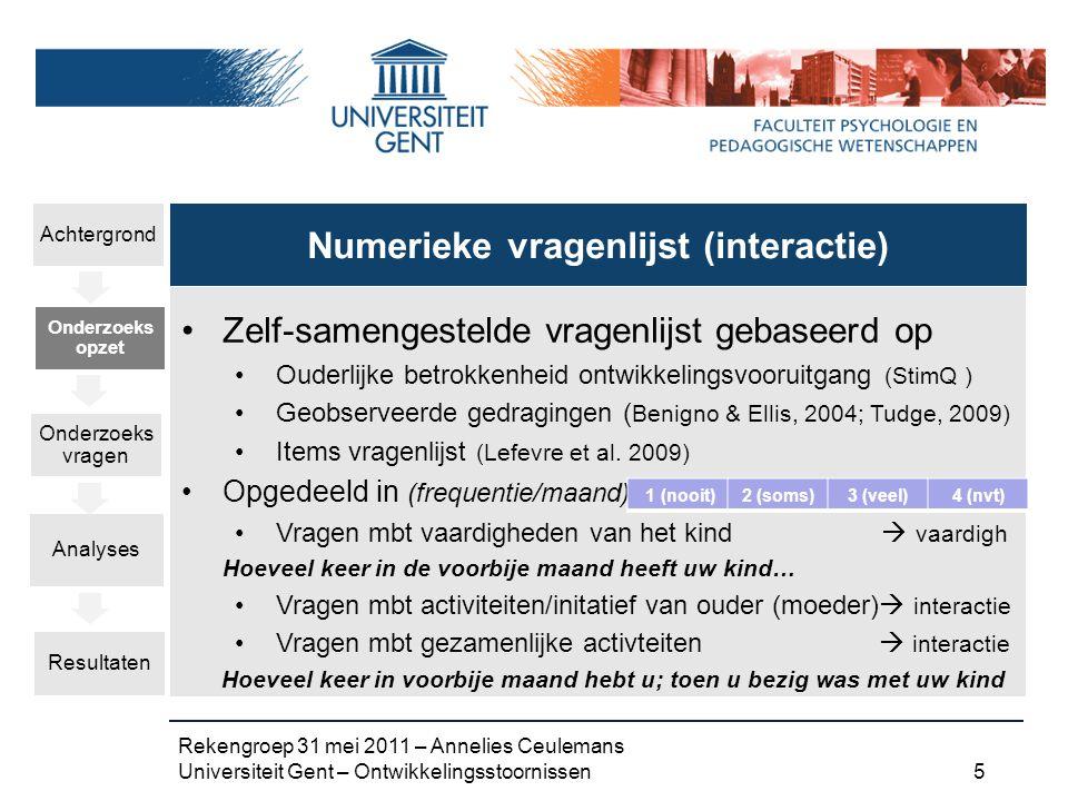 Numerieke vragenlijst (interactie)