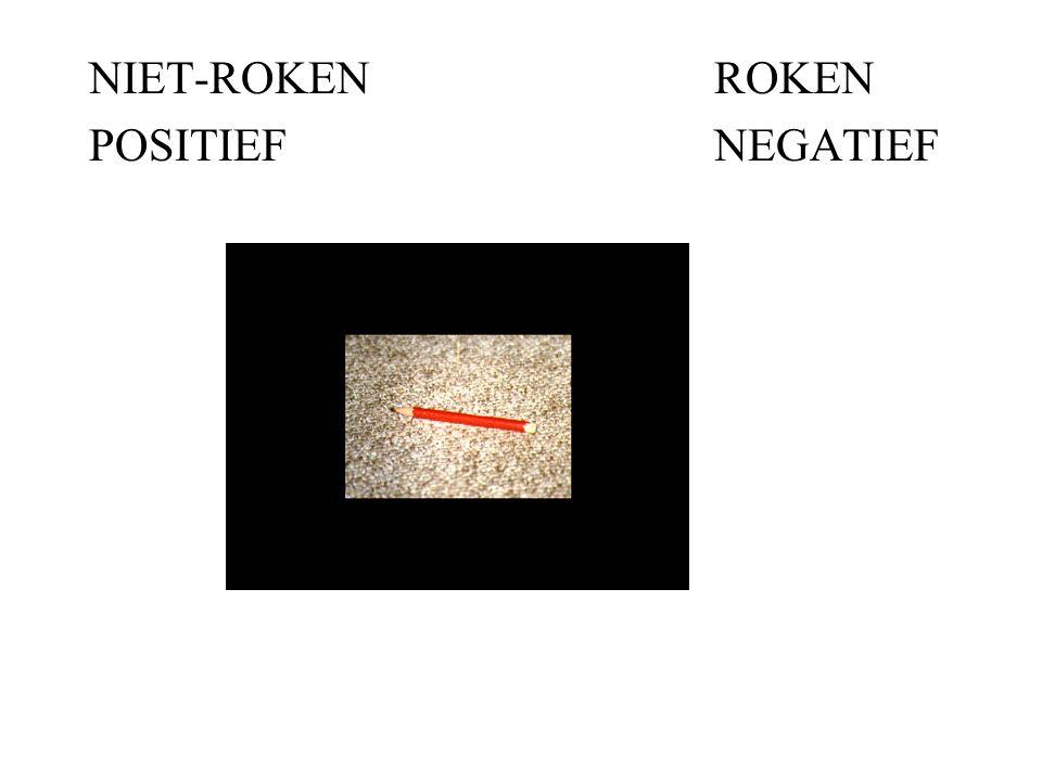 NIET-ROKEN ROKEN POSITIEF NEGATIEF