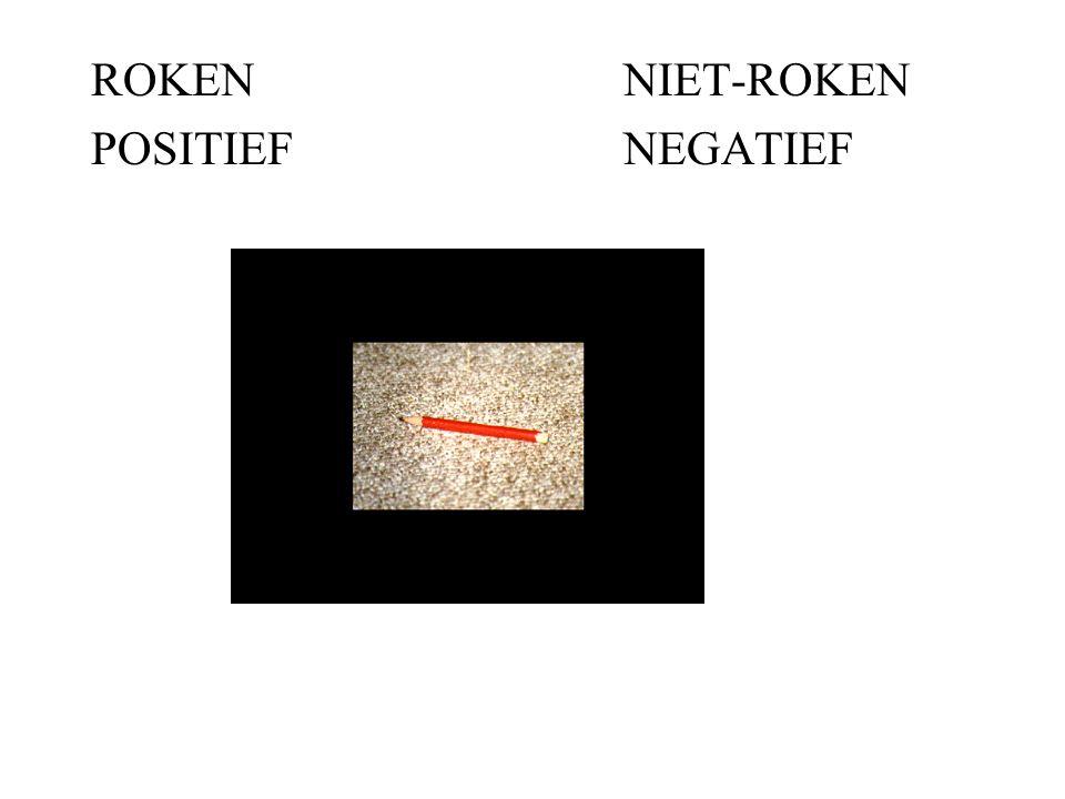 ROKEN NIET-ROKEN POSITIEF NEGATIEF