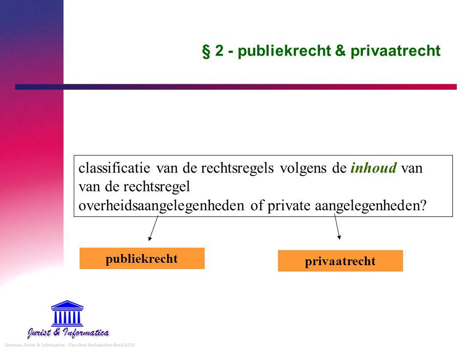 § 2 - publiekrecht & privaatrecht