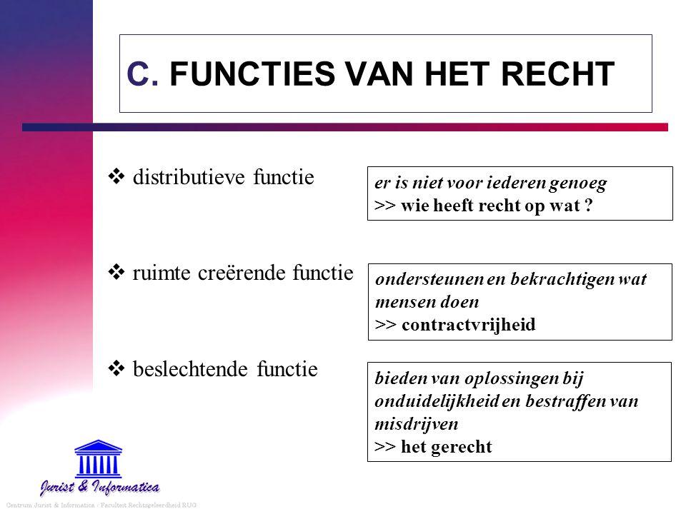 C. FUNCTIES VAN HET RECHT