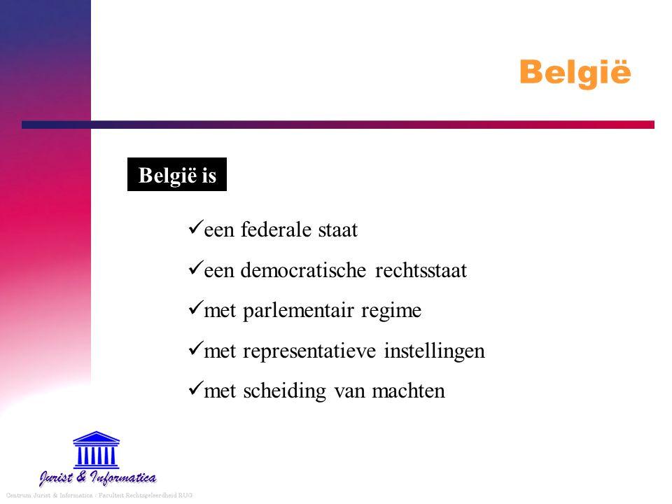 België België is een federale staat een democratische rechtsstaat