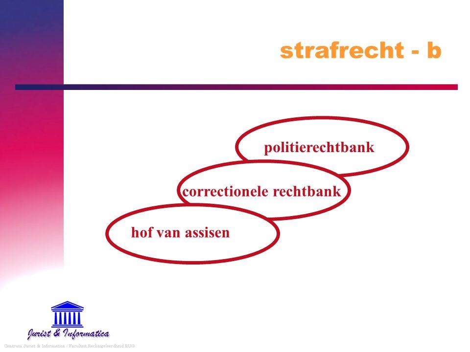 strafrecht - b politierechtbank correctionele rechtbank