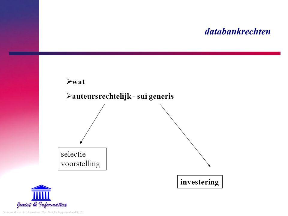 databankrechten wat auteursrechtelijk - sui generis