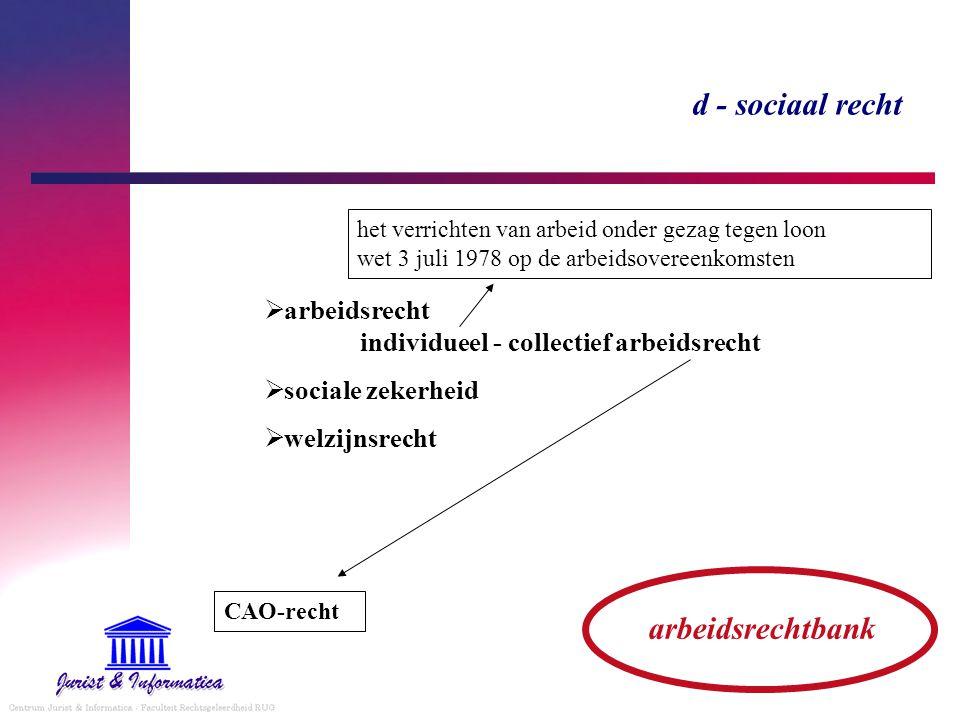 d - sociaal recht arbeidsrechtbank