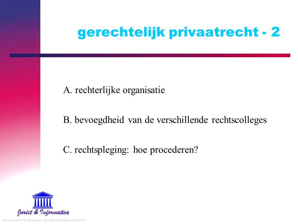 gerechtelijk privaatrecht - 2